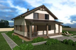 Проект мансардного дома с гаражом фото