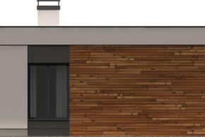 Макет дома с плоской кровлей в современном стиле фото