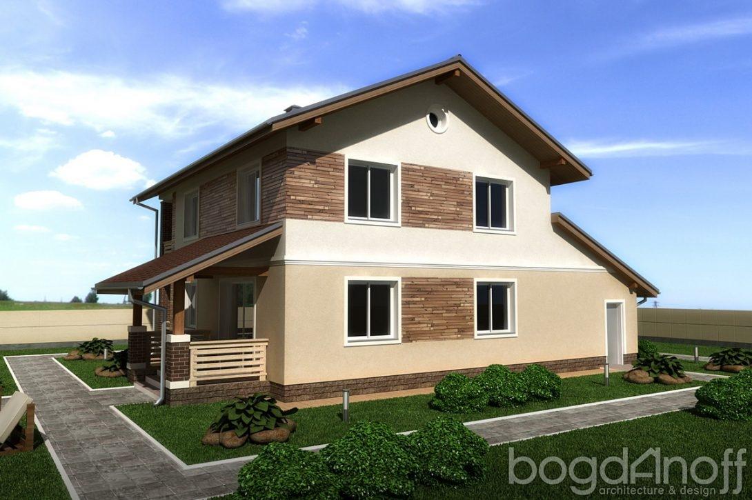 Дом двухэтажный с балконом