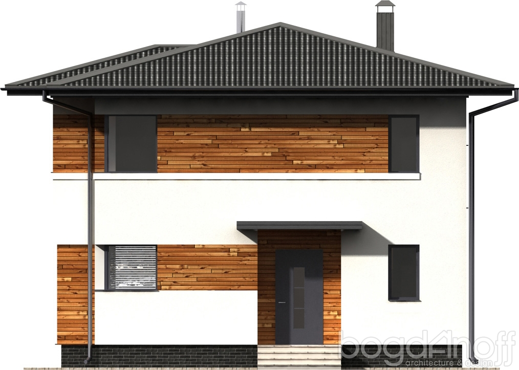 Макет фасад жилого дома