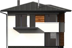 Макет проекта фасада домика