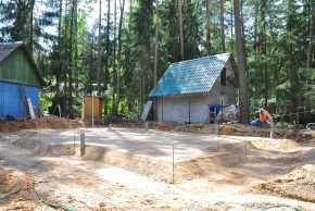 Строительство фундамента дома плита