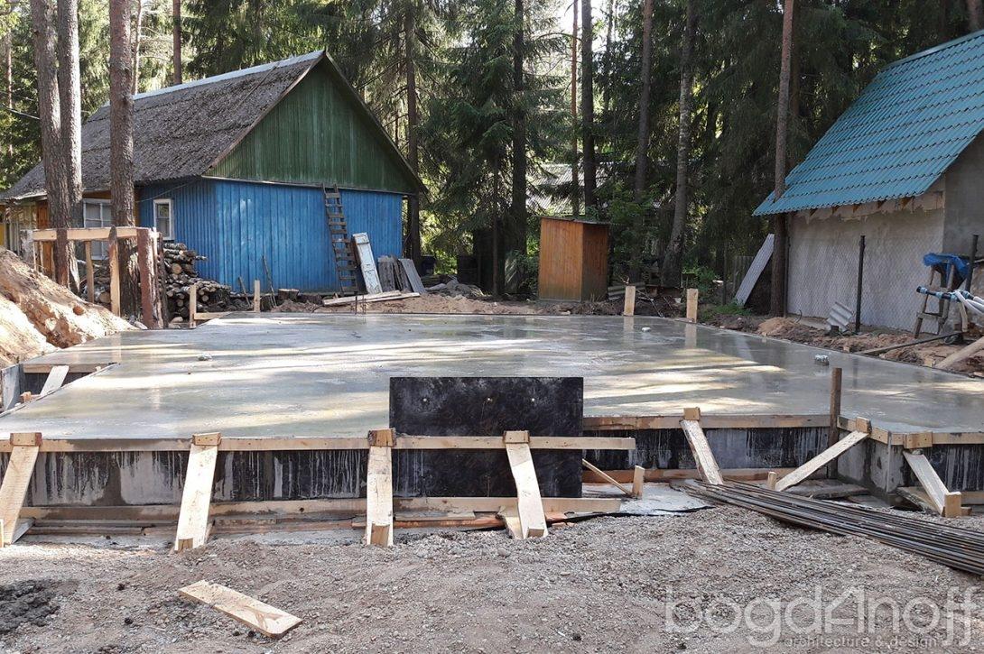 Строительство фундамента монолитная плита