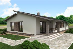 Популярный проект одноэтажного дома П4-2