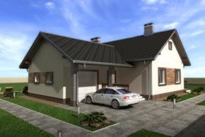 Проект одноэтажного дома П4-5