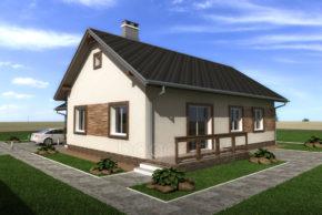 Проект одноэтажного дома с чердаком П4-5