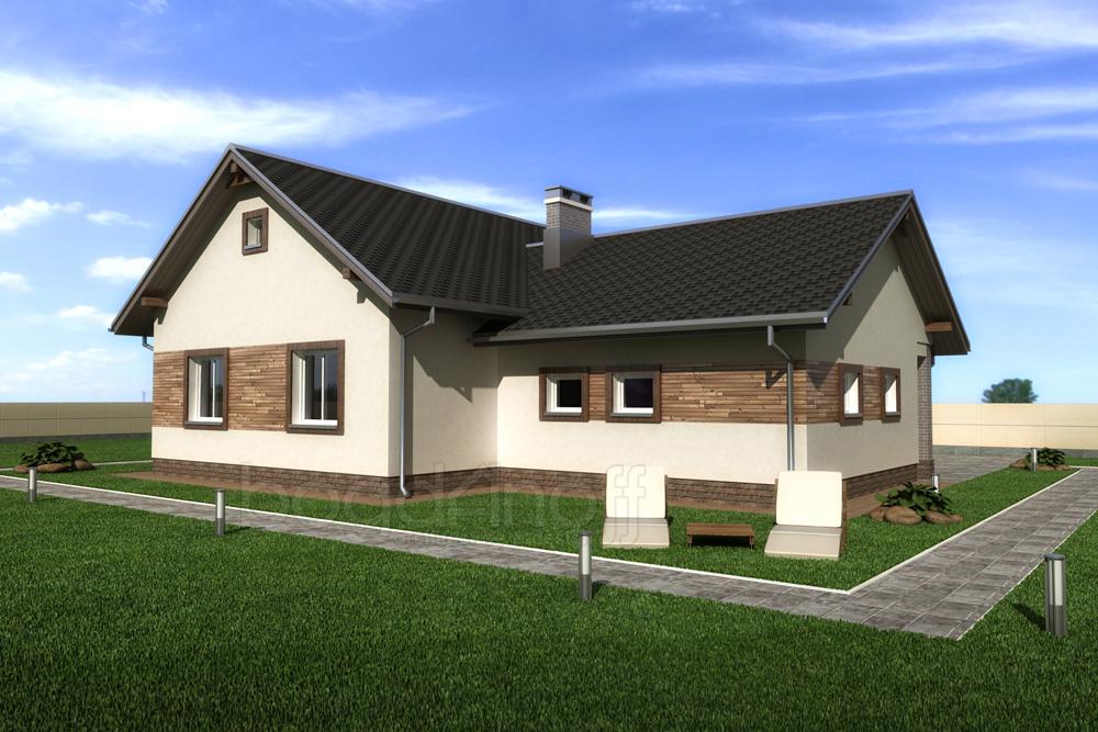 4 Проект одноэтажного дома с холодным чердаком П4-5
