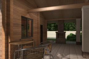 Проект дома с баней novosib фото