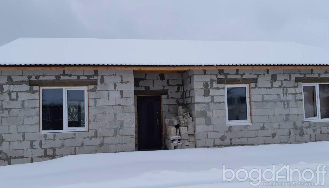 Строительство фасада блочного дома