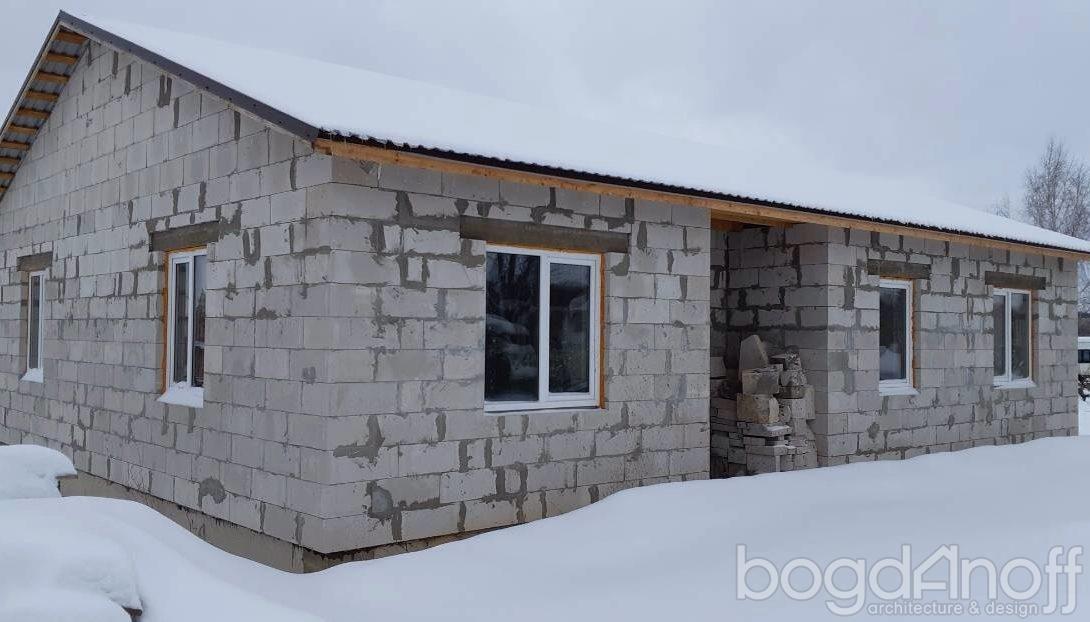 дом из блоков с тамбуром