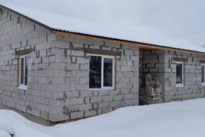 Строительство дома из блоков с тамбуром
