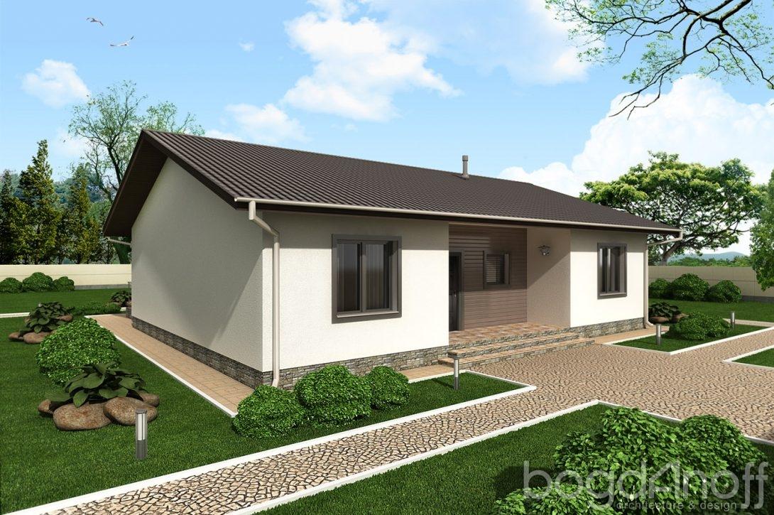 Проект дома с входной группой и крыльцом