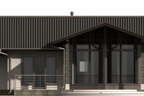 Макет одноэтажного дома с террасой