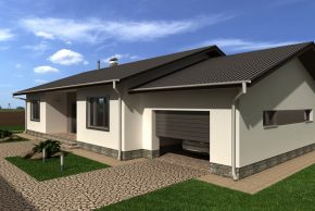 Проект одноэтажного дома с террасой фото
