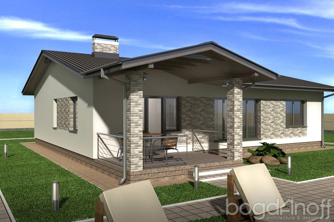 Одноэтажный проект комфортного дома фото