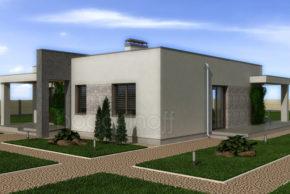 Проект одноэтажного домика с плоской крышей фото