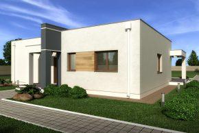 одноэтажный современный домик