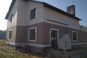 фасад дома штукатурка покраска