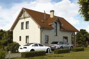 Дом с площадкой для авто
