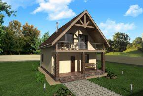 домик с балконом