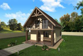 дом с балконом и террасой