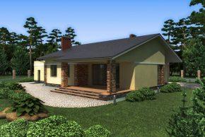 Дом с террасой во дворик
