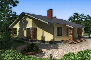 Одноэтажный семейный дом