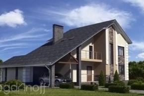 Проект современного дома площадью 190 квадратных метра П23-1