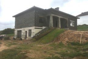 Строительство дома по проекту на неровном участке