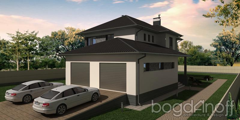 Проект дома из керамзитобетона 411 кв фото