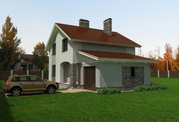 Жилой дом с гаражом