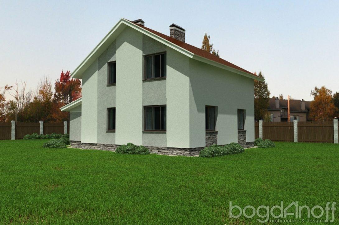 Дом без террасы с гаражом