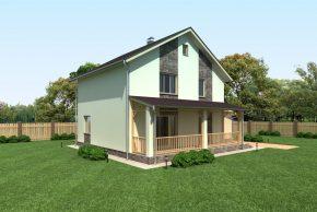 Жилой дом с гаражом и террасой