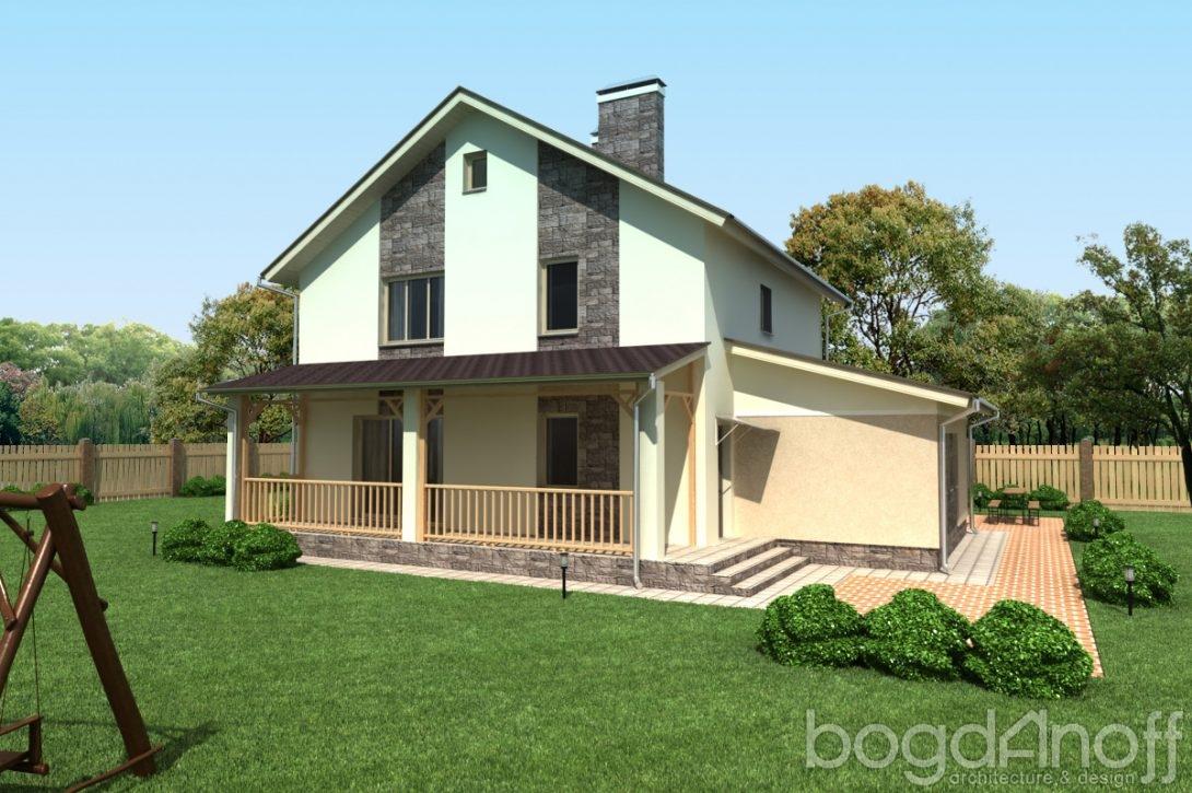 Дом с террасой во двор