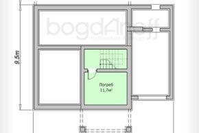 Проект стильного двухэтажного дома из газоблоков П3-133