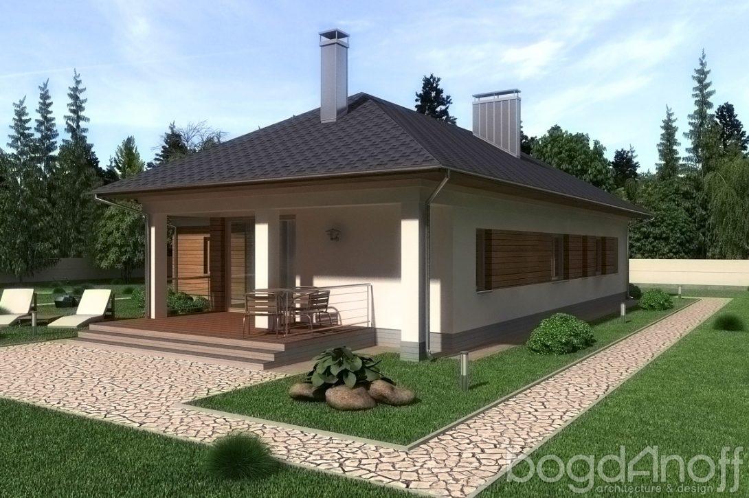 Домик с террасой во двор