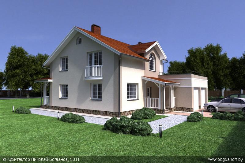 Проект двухэтажного дома в английском стиле П3-8 1