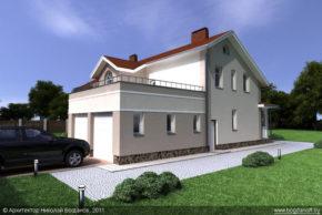Проект двухэтажного дома в английском стиле П3-8 2