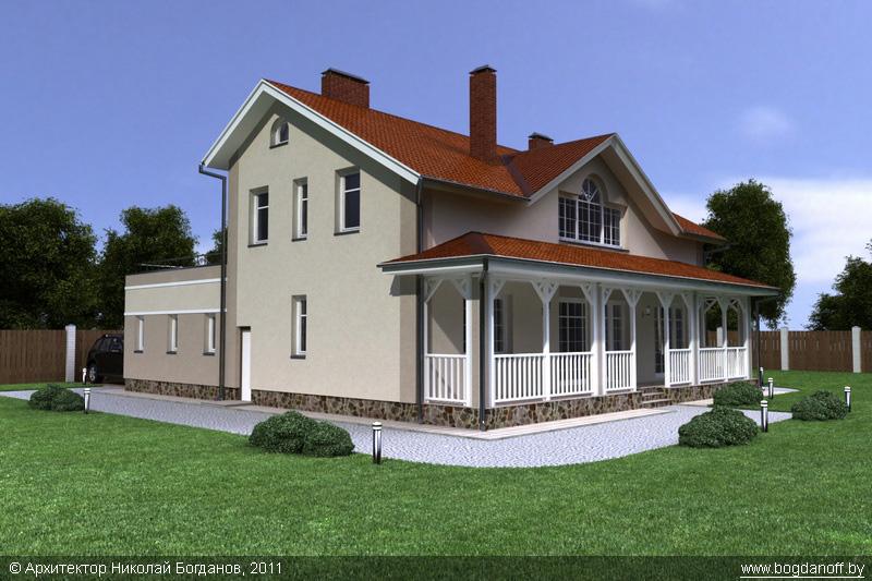 Проект двухэтажного дома в английском стиле П3-8 3