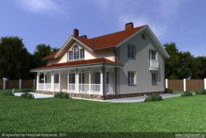 Проект двухэтажного дома в английском стиле П3-8 4