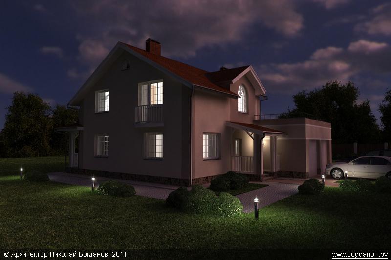 Проект двухэтажного дома в английском стиле П3-8 8