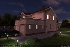 Проект двухэтажного дома в английском стиле П3-8 5