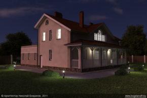 Проект двухэтажного дома в английском стиле П3-8 6