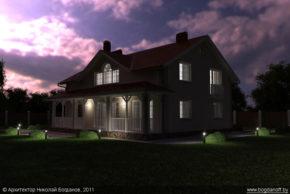 Проект двухэтажного дома в английском стиле П3-8 7