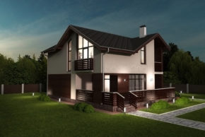 Проект дома с мансардным этажом на 189 кв м