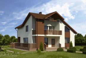 Готовый проект мансардного дома П3-91 1