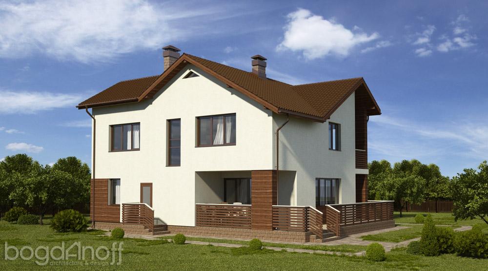 Готовый проект мансардного дома П3-91 4