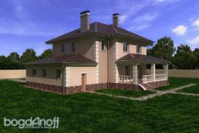 Проект жилого дома в 310 м2 для многодетной семьи П4-14