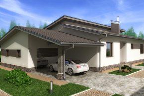проект дома с камином