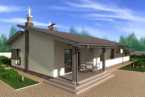Проект с террасой и навесом